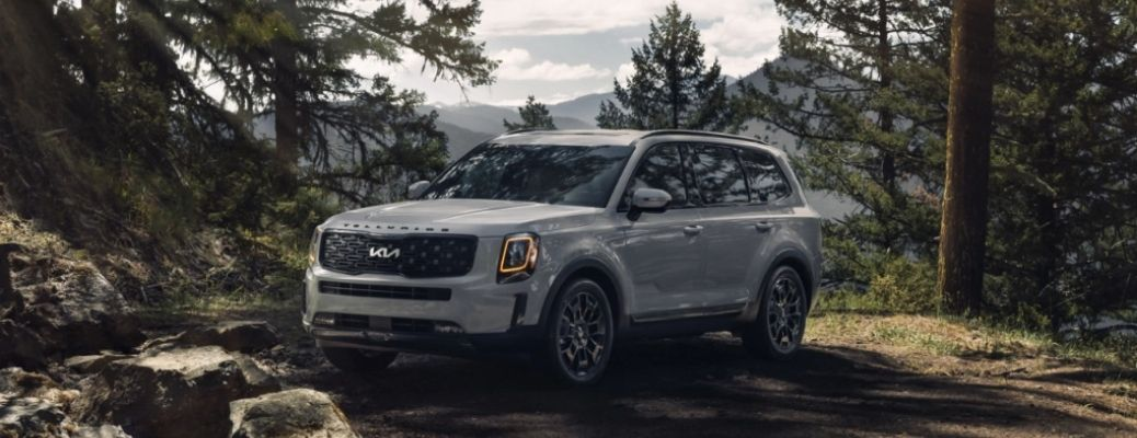 2022 Kia Telluride parked in the woods
