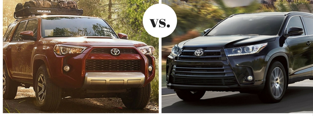 Toyota Highlander Vs Toyota 4Runner >> 2018 Toyota 4runner Vs 2018 Toyota Highlander