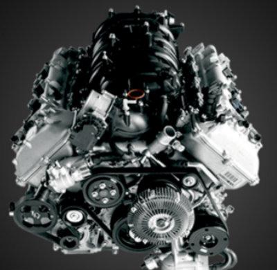 Isolated shot of 2018 Toyota Tundra 4.6-liter V8