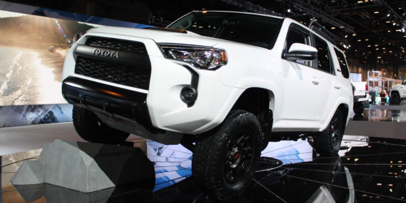 2019 Toyota 4Runner TRD Pro shown at Chicago Auto Show exhibit