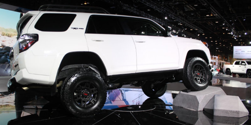 Shot of right side of 2019 Toyota 4Runner TRD Pro model at Chicago Auto Show