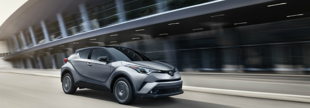 2019 Toyota C-HR driving down a city road