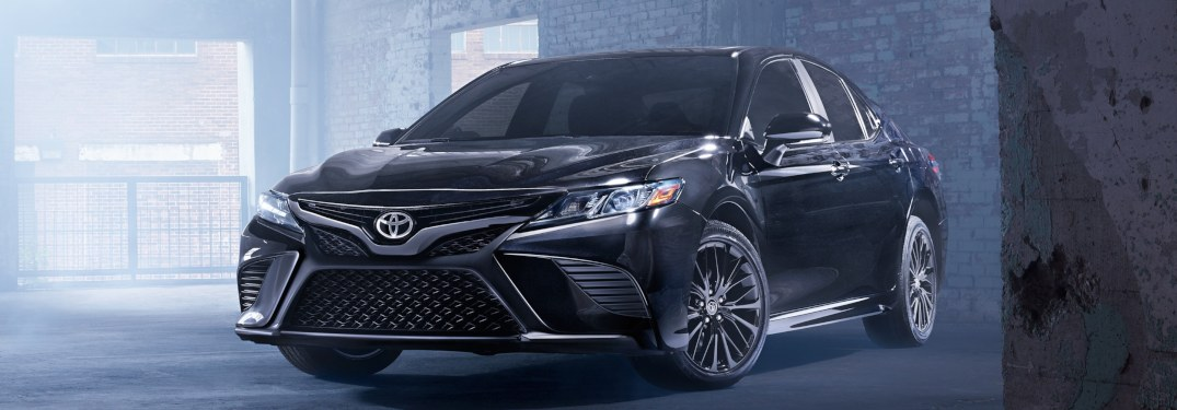 2019 Toyota Camry parked inside an old building