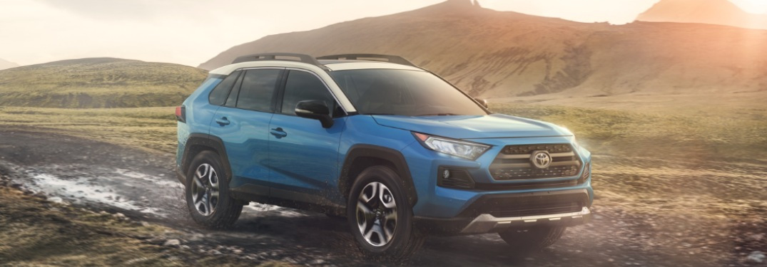 2019 Toyota RAV4 driving off-road