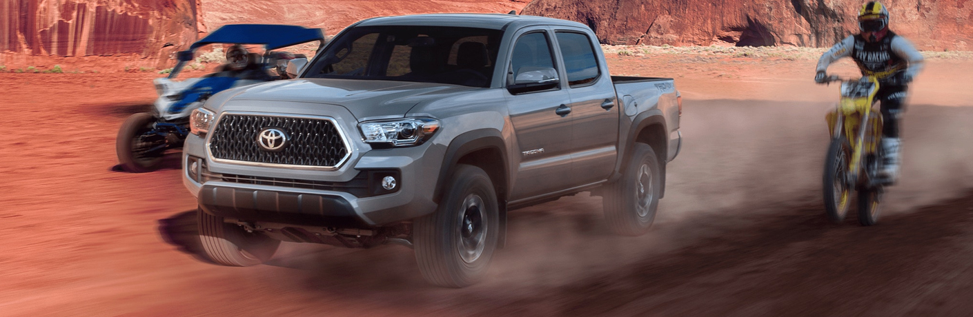 What are the safety technology features in the 2019 Toyota Tacoma?