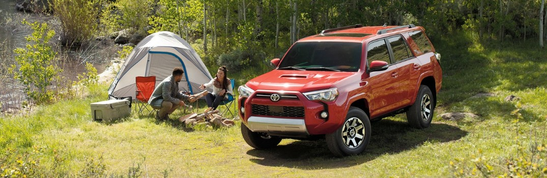 2020 Toyota 4Runner next to a camp site