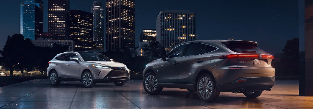 2021 Toyota Venza models facing each other