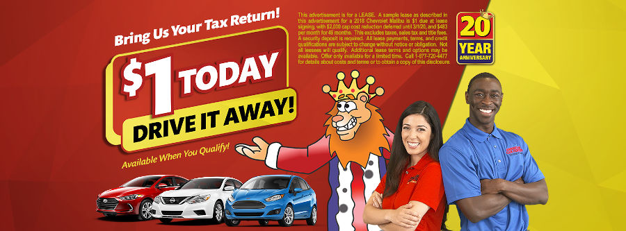 Tax Time Savings at American Car Center – Only $1 Down* with Your Tax Return