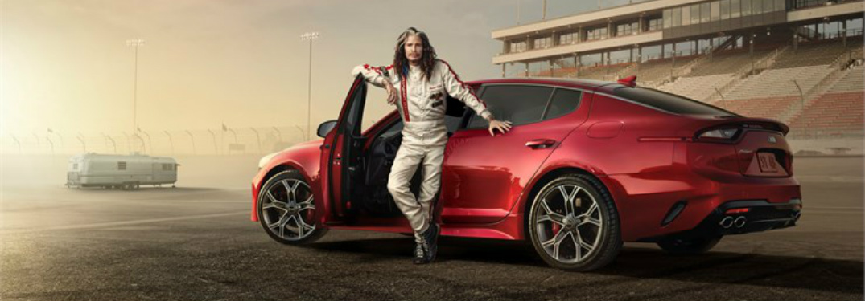 Aerosmith Singer Stars in Kia Stinger Commercial