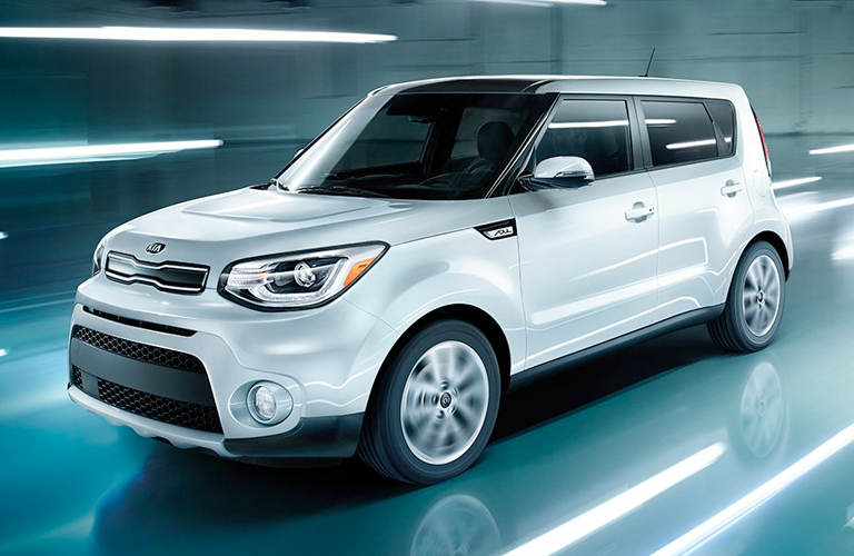 2019 Kia Soul Driving On A Road