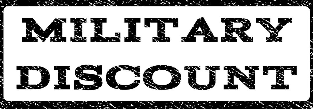 Military Discount in text