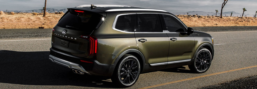 2020 Kia Telluride driving on a road