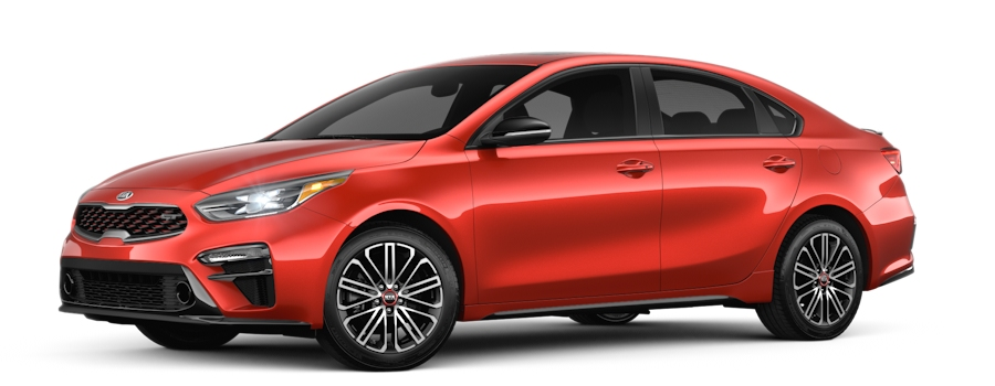 2020 Kia Forte Fire Orange side view