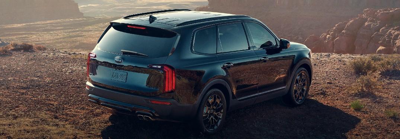 2021 Kia Telluride Nightfall Special Edition side and rear profile