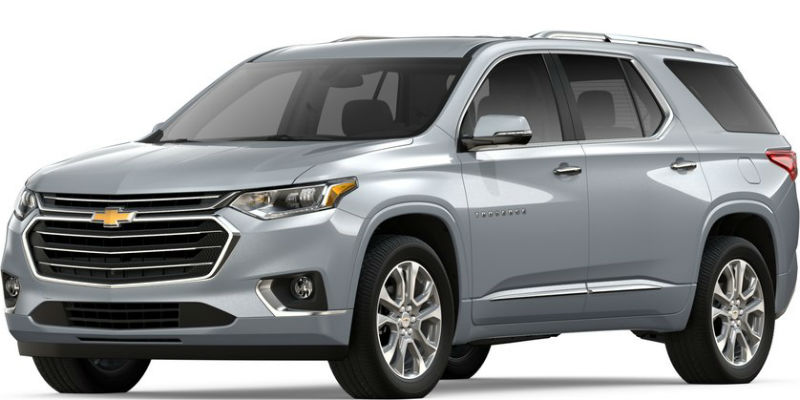 2019 Chevy Traverse Colour Options