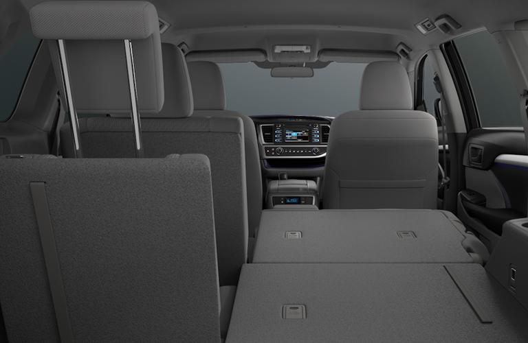 2018 Toyota Highlander Rear Seat Folded