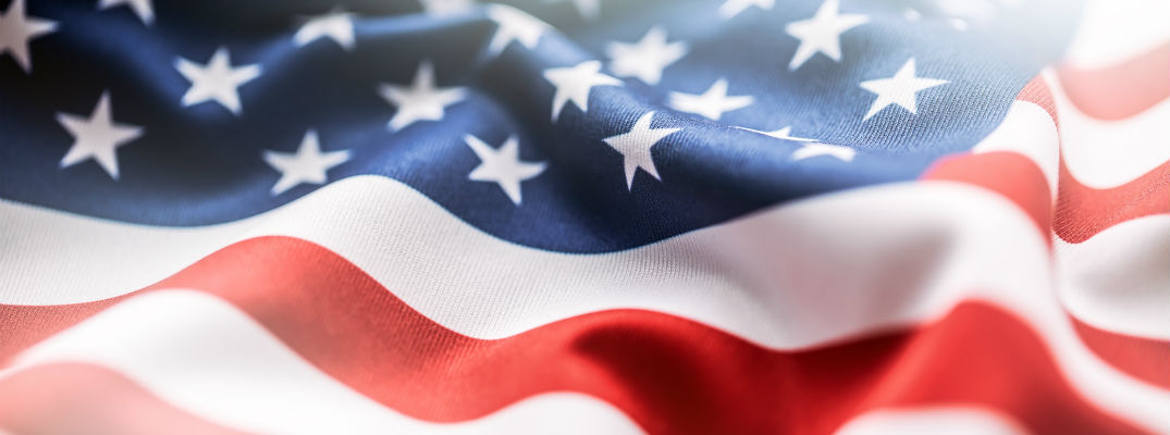 A stock photo of an American flag.