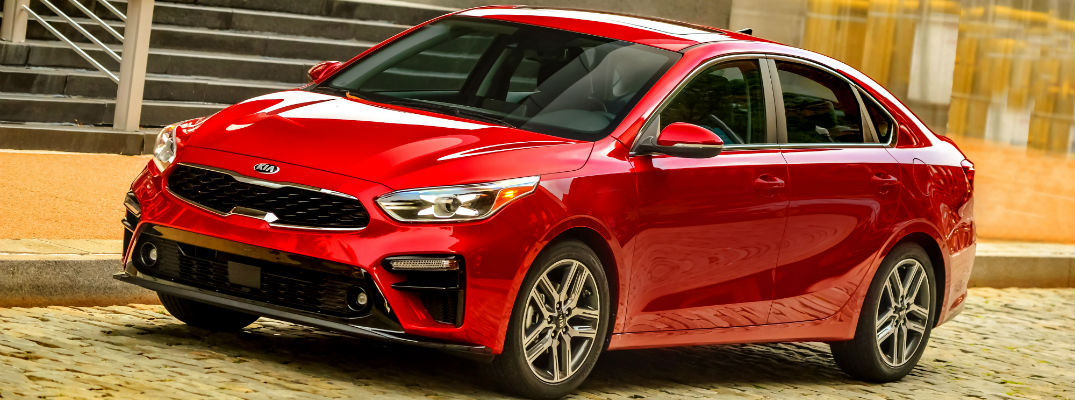 A photo of the 2019 Kia Forte on the road.