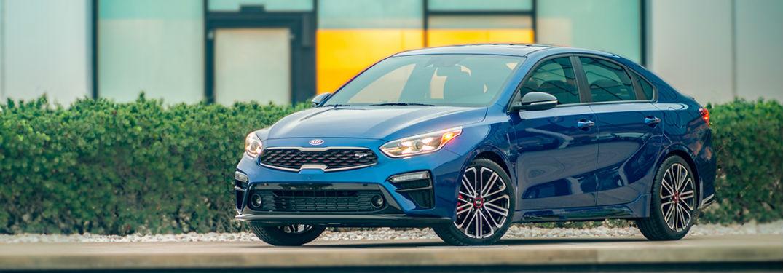 2020 Kia Forte in blue