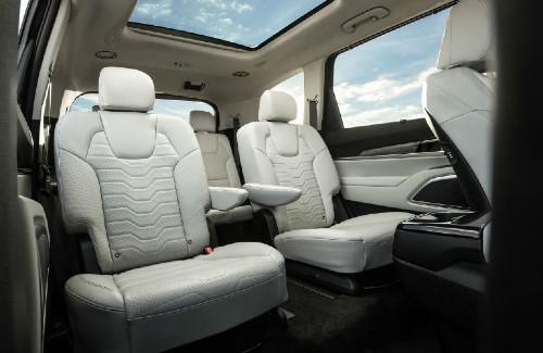 2020 Kia Telluride interior rear white seats