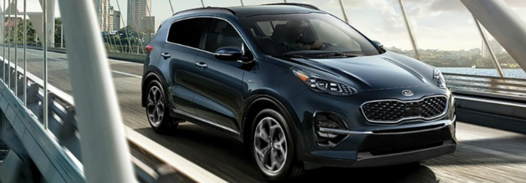 2021 Kia Sportage in blue