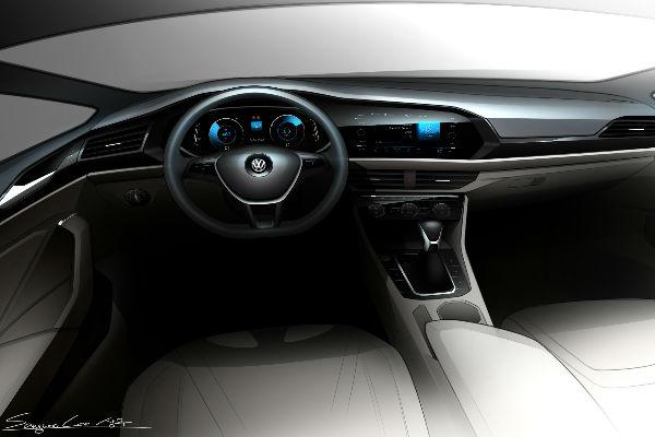 2019 VW Jetta Interior Design Sketch