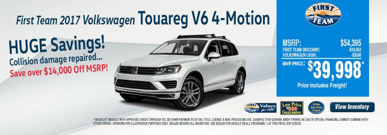 2017 Volkswagen Touareg Availability Roanoke VA