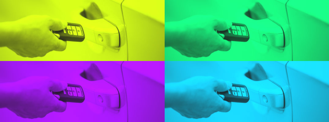 4-color image of a key fob