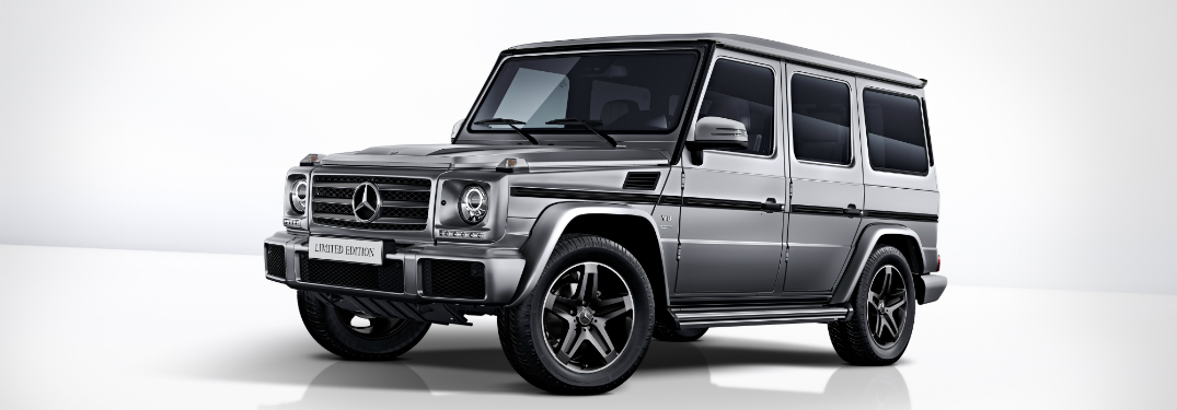gray 2018 Mercedes-Benz limited edition G 550 on white background