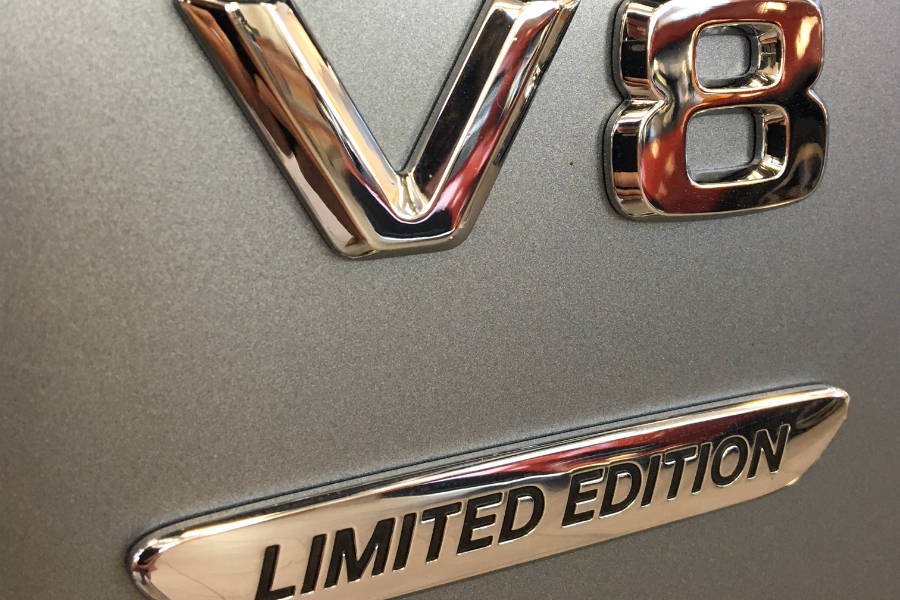 V8 Limited Edition badging on Mercedes-Benz G-Class 550 limited edition model