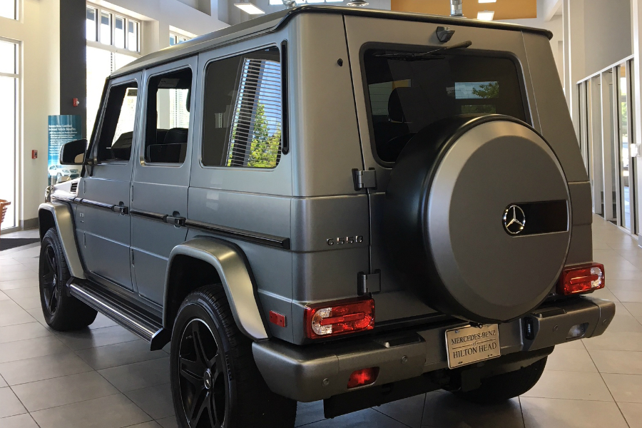 Rear View Of Limited Edition Mercedes Benz G 550