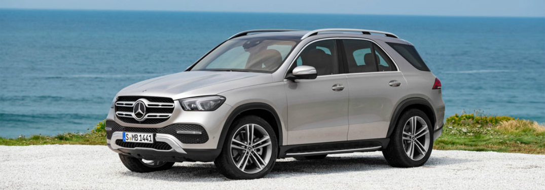 2020 mercedes-benz gle parked near the ocean