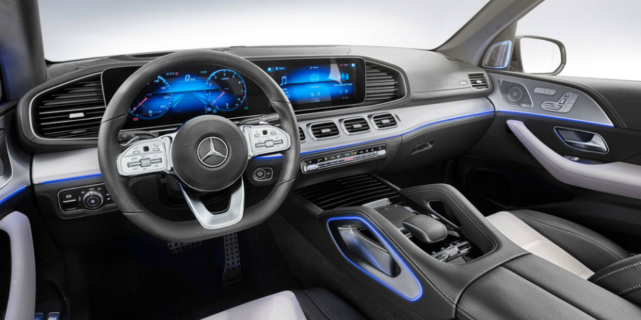 2020 gle steering wheel and mbux screens