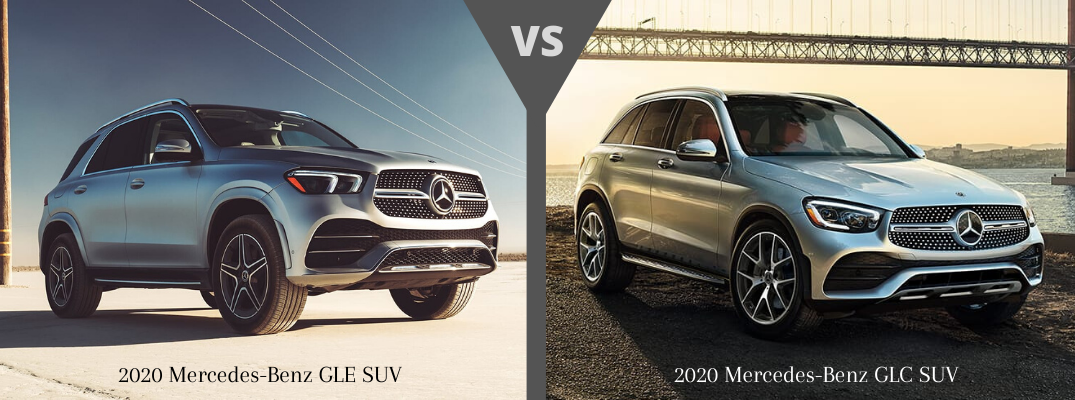 2020 Mercedes-Benz GLE SUV vs Mercedes-Benz GLC SUV