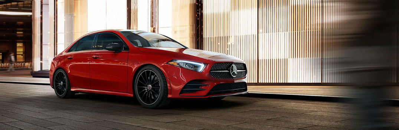 2020 Mercedes-Benz A 220 Sedan Exterior Passenger Side Front Profile