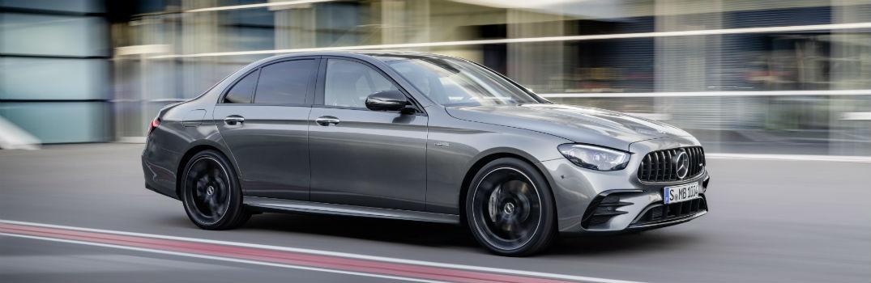 2021 Mercedes-AMG E 53 Exterior Passenger Side Front Profile