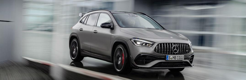 2021 Mercedes-AMG® GLA 45 Exterior Passenger Side Front Profile