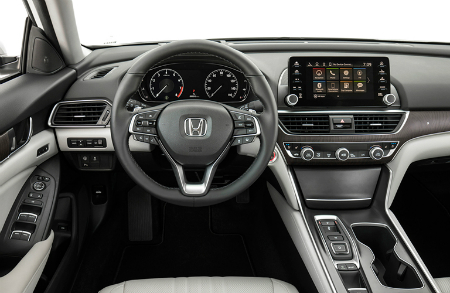 2018 Honda Accord Touring dashboard and steering wheel