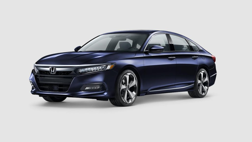 2018 Honda Accord in obsidian blue pearl paint color