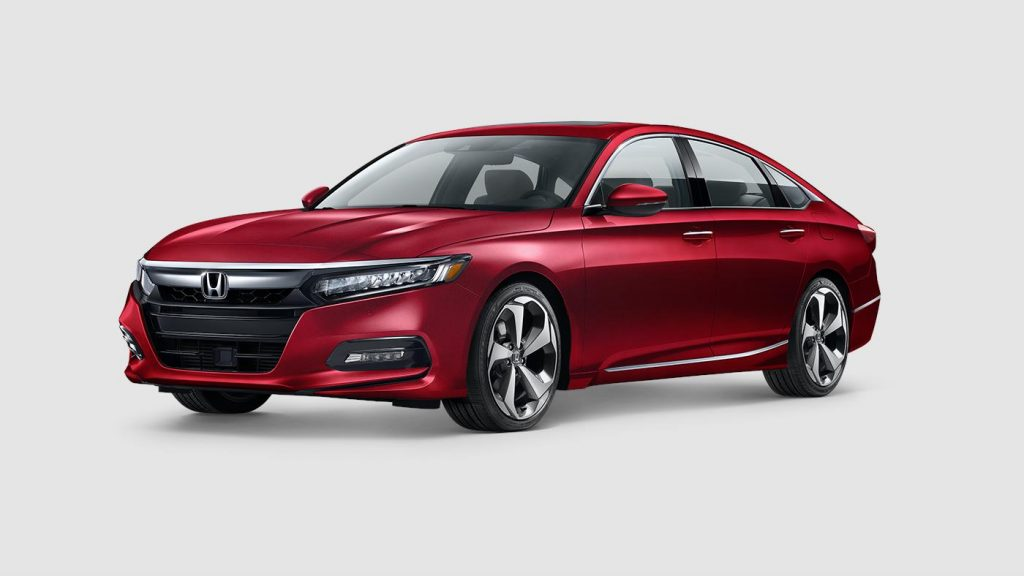2018 Honda Accord in radiant red paint color
