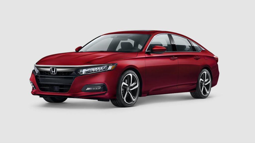 2018 Honda Accord in San Marino red paint color
