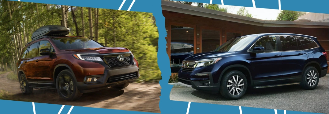 side by side honda passport and pilot