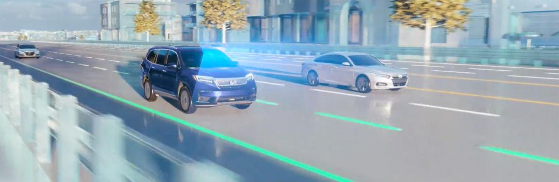 2020 Honda Passport Road Departure Mitigation System Simulation