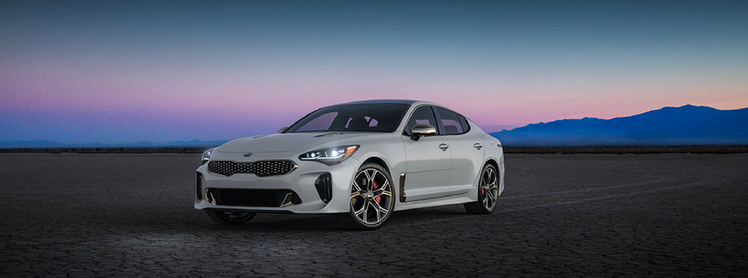 2018 Kia Stinger Front View of Snow White