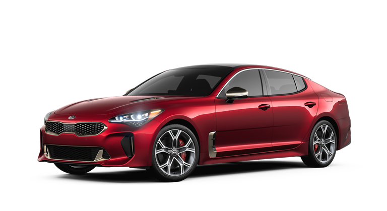 2018 Kia Stinger in Hichroma Red paint color
