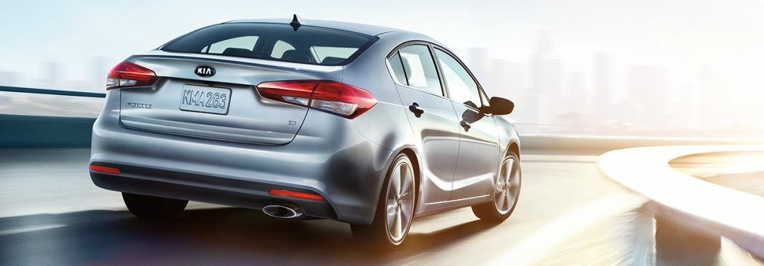 silver 2018 Kia Forte back view