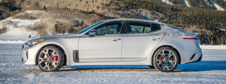 2018 Kia Stinger Side View of White Exterior