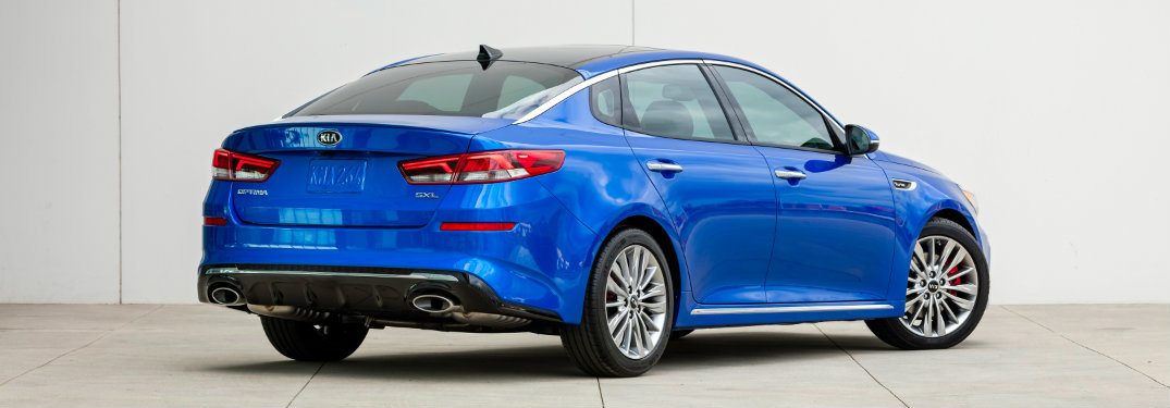 rear view of the 2019 Kia Optima sedan