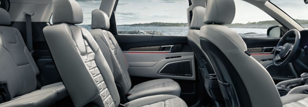 What Interior Trim Material and Color Combinations Are Offered on the 2020 Kia Telluride?