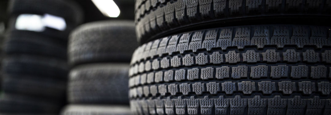 Stack of tires on sale